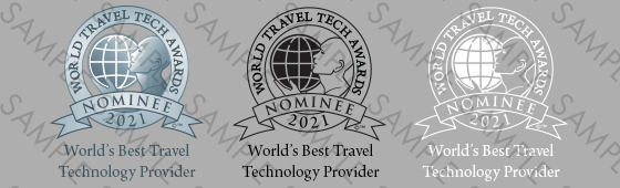 World Travel Tech Awards Nominee shield sample